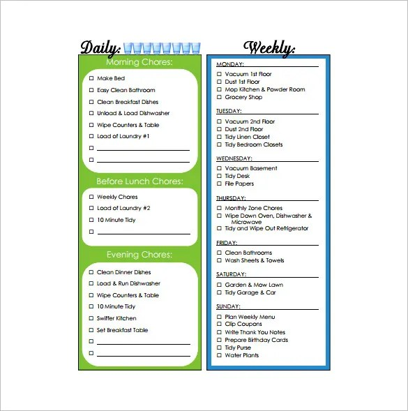 Daily And Weekly Chores - C # ile Web\u0027 e Hükmedin!