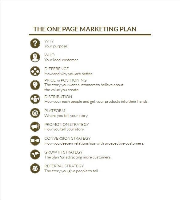 Simple Marketing Plan Template \u2013 17+ Free Word, Excel, PDF Format - marketing plan pdf