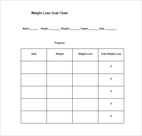 Goal Chart Template u2013 9+ Free Sample, Example, Format Download - sample goal tracking