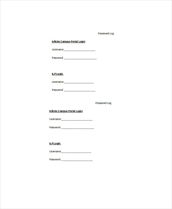 Log Template - 10+ Free Word, Excel, PDF Documents Download Free