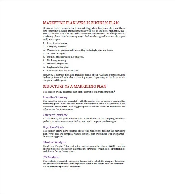 Marketing Plan Executive Summary Template - 16+ Free Sample, Example