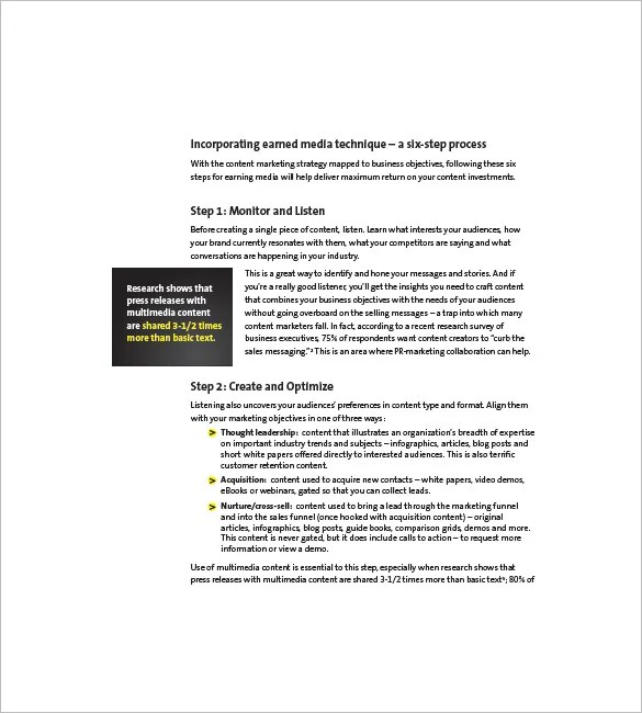 Content Marketing Plan Template - 12+ Free Word, Excel, PDF Format