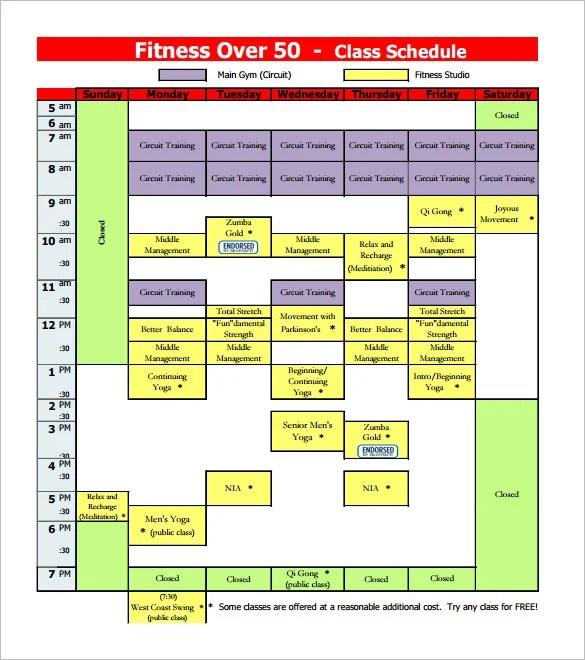 class schedule excel template download - Onwebioinnovate - class schedule template sample