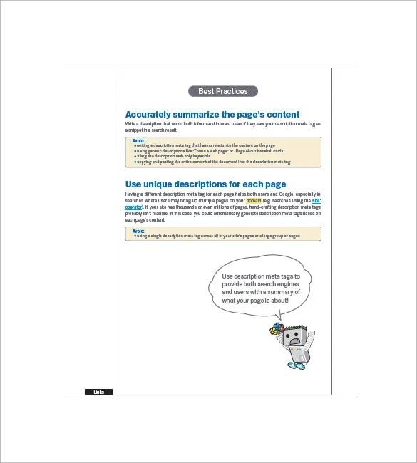 SEO Marketing Plan Template \u2013 8+ Free Sample, Example, Format