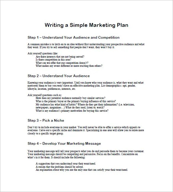 19+ Simple Marketing Plan Templates - DOC, PDF Free  Premium