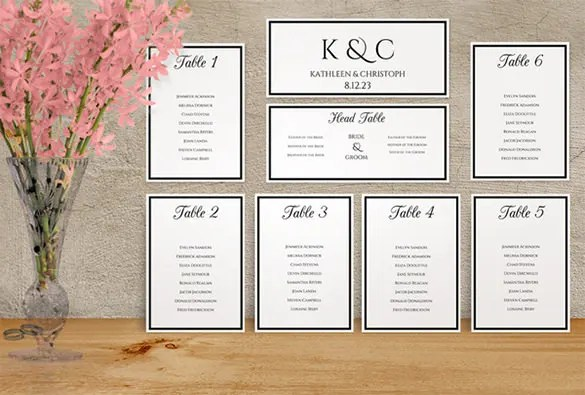 seating chart for wedding template - 28 images - what you need to