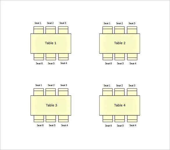 seating chart wedding template free