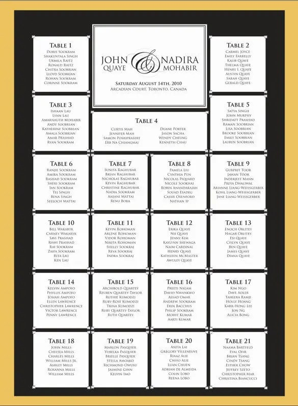 free table seating chart template - Funfpandroid - free printable seating chart