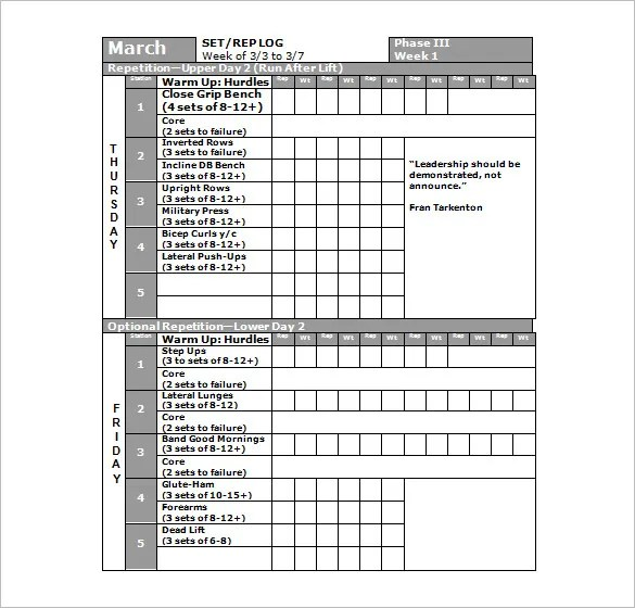 27+ Workout Schedule Templates - PDF, DOC Free  Premium Templates - monthly workout plan template