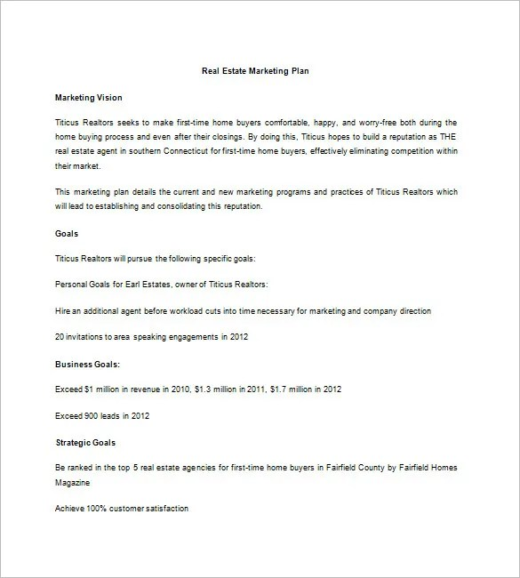 13+ Real Estate Marketing Plan - Free Sample, Example, Format - sample marketing timeline template