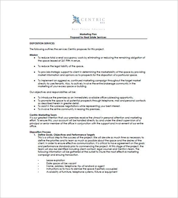 16+ Real Estate Marketing Plan - Free Sample, Example, Format