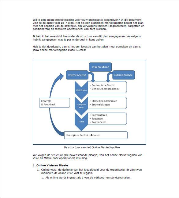 Internet Marketing Plan Template \u2013 10+ Free Sample, Example, Format