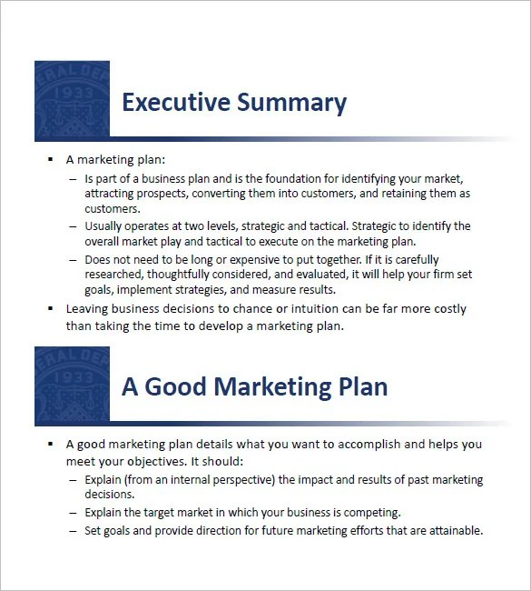 14+ Small Business Marketing Plan Templates - Free PDF, Word Format