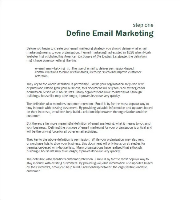 B2B Marketing Plan Template u2013 12+ Free Sample, Example, Format - email marketing sample
