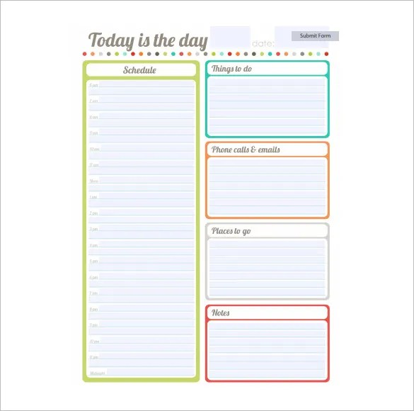 School Schedule Template - 13+ Free Word, Excel, PDF Format Download