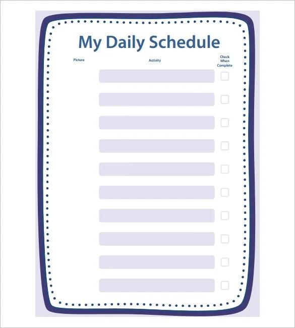 School Schedule Template - 13+ Free Word, Excel, PDF Format Download