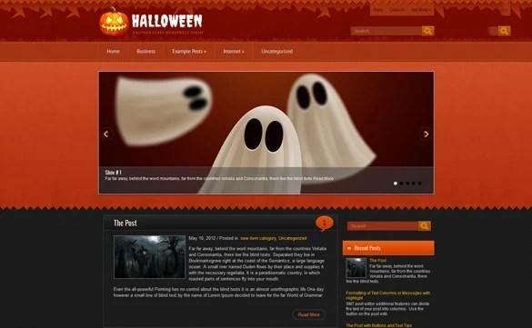 5+ Halloween WordPress Themes amp; Templates Free  Premium Templates