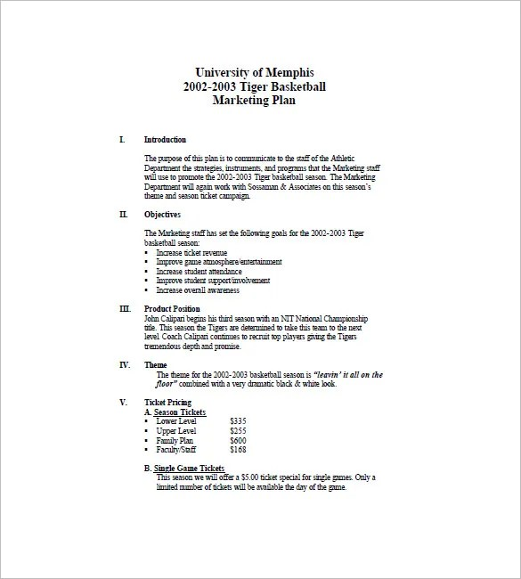 Sample Business Plan Outline 9 Examples In Word Pdf Event Marketing Plan Template – 10 Free Sample Example