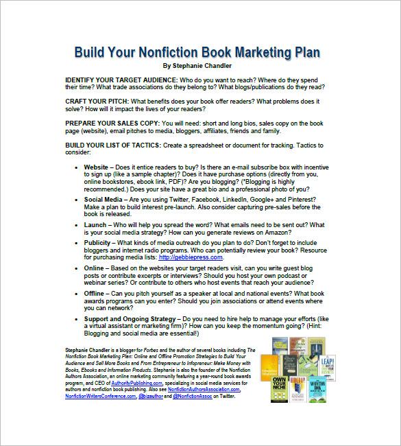 Book Marketing Plan Template u2013 8+ Free Sample, Example - spending plan template
