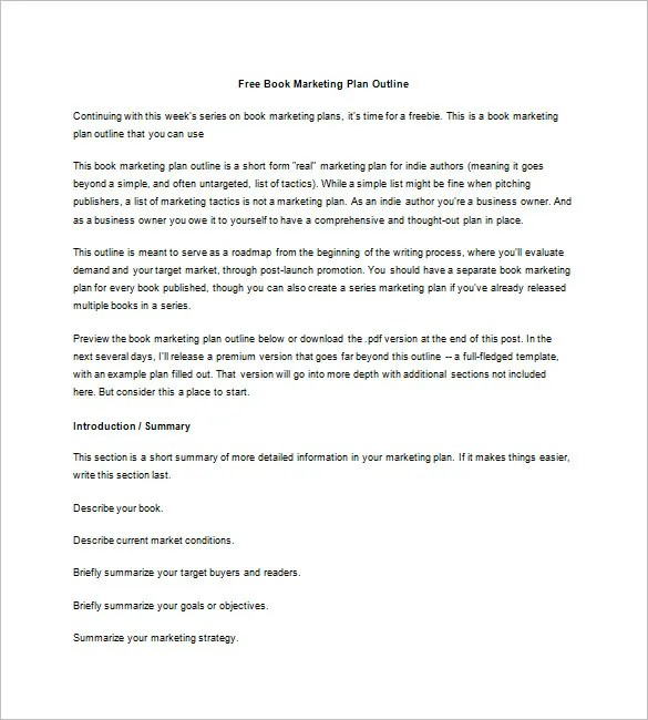 7+ Book Marketing Plan Template - Free Sample, Example, Format