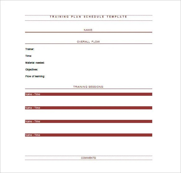 Training Schedule Templates - 21+ Free Word, Excel, PDF Format