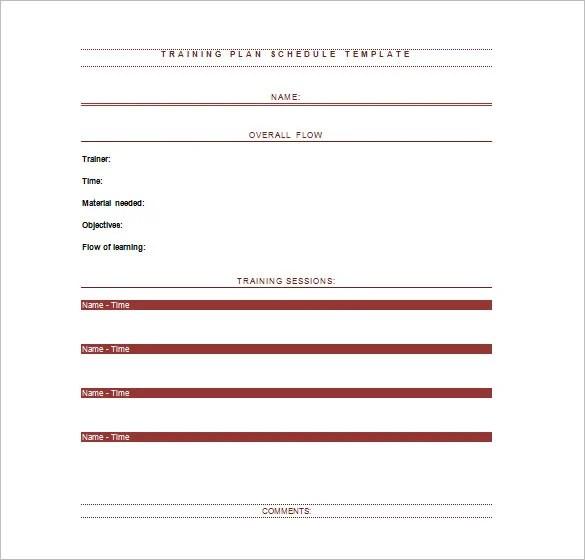 Training Schedule Templates u2013 17+ Free Word, Excel, PDF Format - sample training calendar