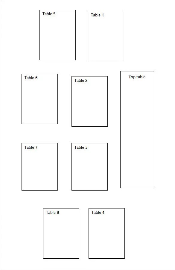 Seating Chart Template Free  Premium Templates