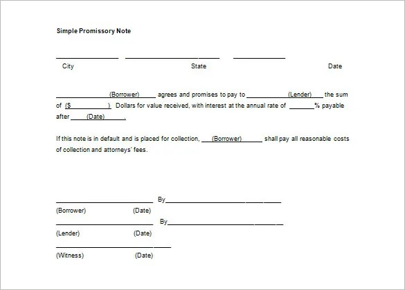 Promissory Note Template - 34+ Free Word, PDF Format Free - promissory note sample pdf