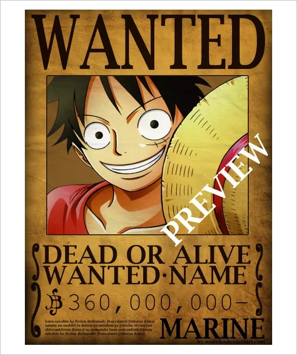Wanted Poster Template - 54+ Free Printable Word, PSD, Illustration