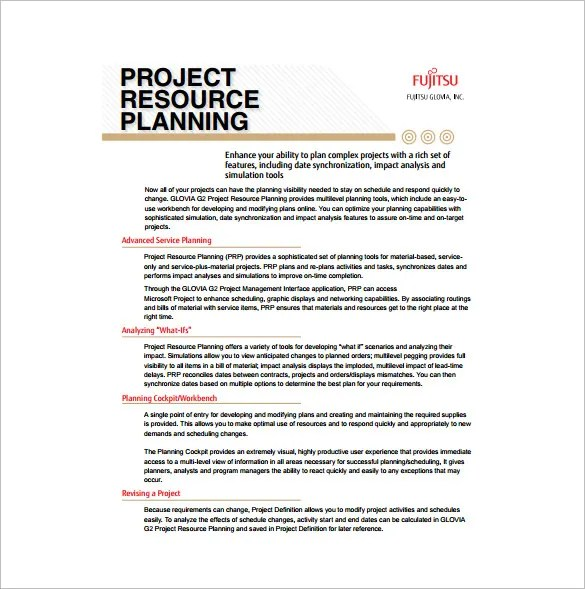 Project Plan Template u2013 23+ Free Word, Excel, PDF Format Download - resource plan template