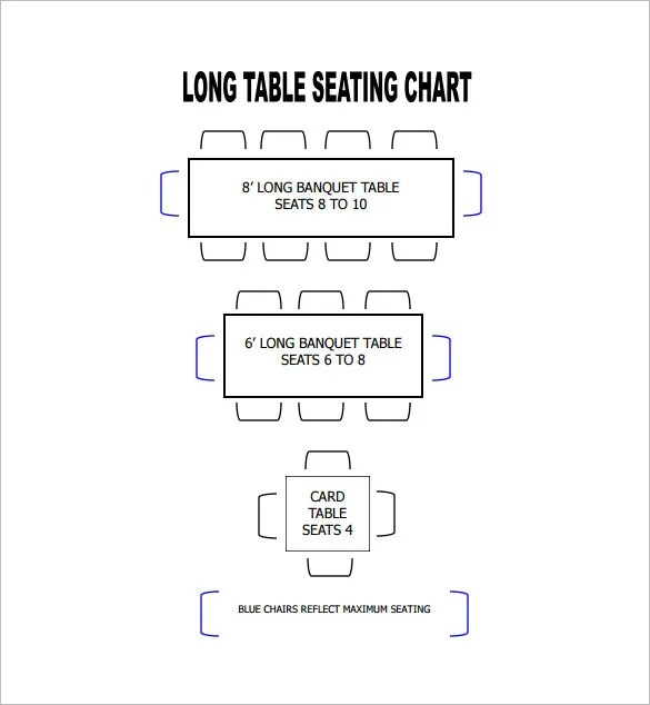 Table Seating Chart Template \u2013 14+ Free Sample, Example, Format - restaurant table layout templates