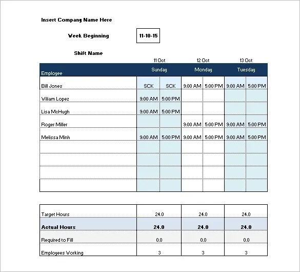 Shift Schedule Template - 20+ Free Word, Excel, PDF Format Download