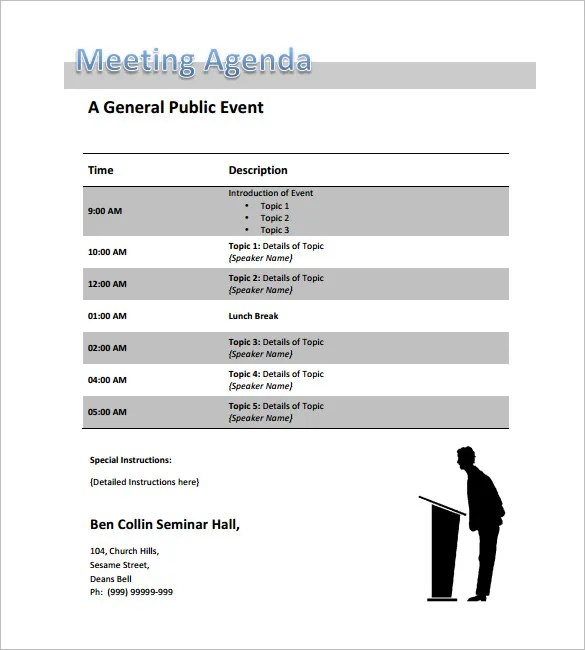 Conference Schedule Template - 10+ Free Word, Excel, PDF Format - event timetable template