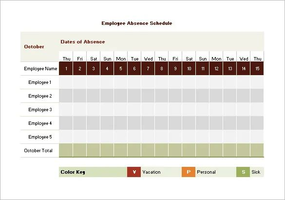 employee vacation template