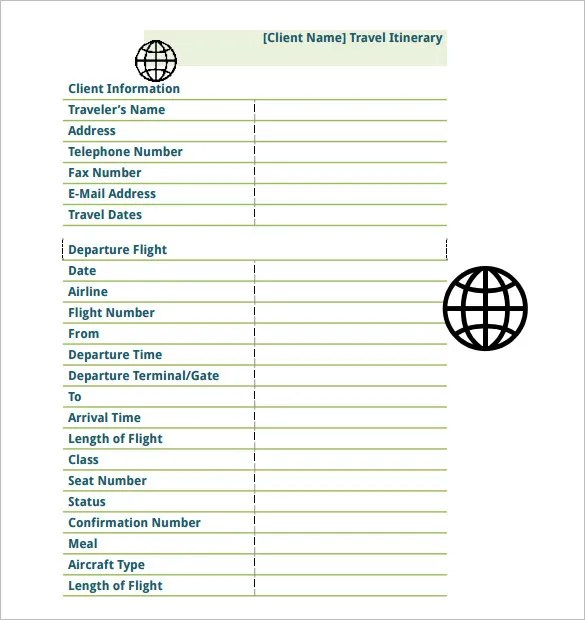 16+ Travel Schedule Templates - Free Word, Excel, PDF Format