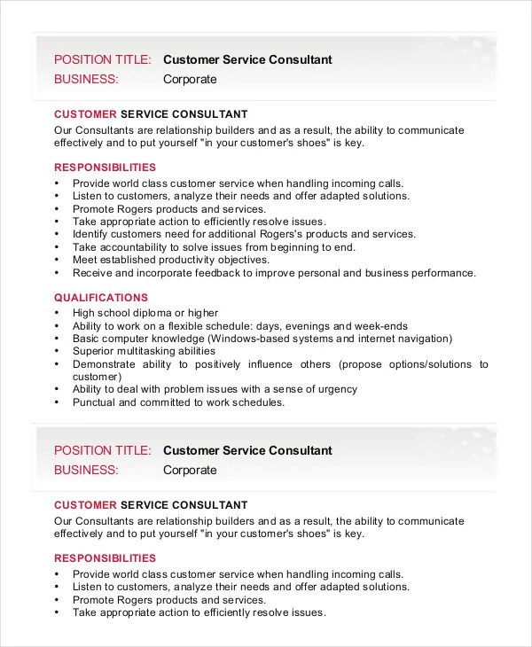 Customer Support Consultant Top 8 Technical Support Consultant - job qualifications list
