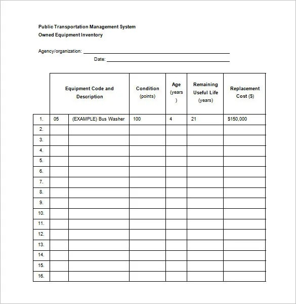 equipment maintenance schedule template - Maggilocustdesign