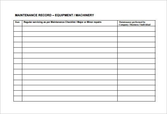 apartment maintenance log template - Holaklonec