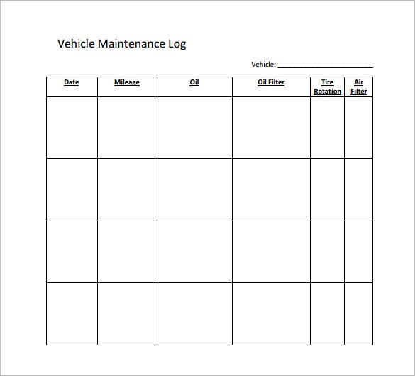 Maintenance Schedules Templates Gallery - Template Design Ideas