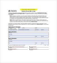 8+ Vehicle Bill of Sale - Free Sample, Example, Format ...