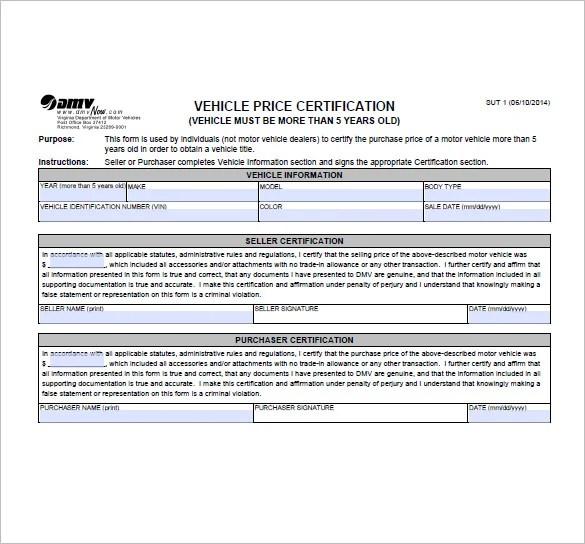 va bill of sale form - Olalapropx - auto bill of sale