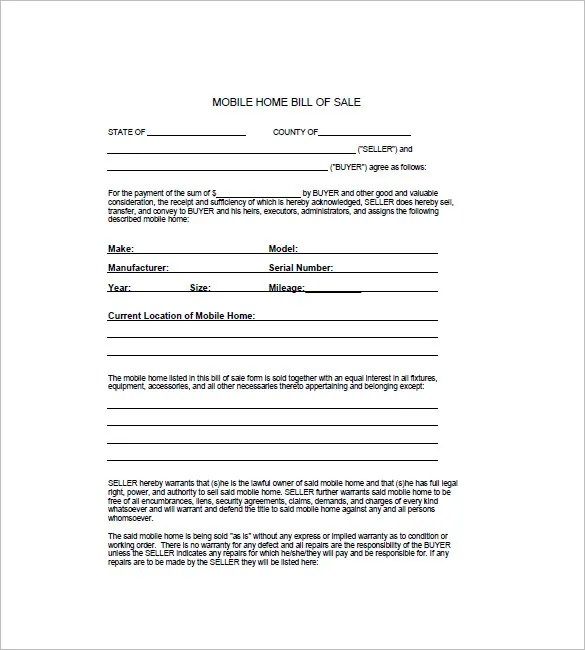 Horse Bill of Sale \u2013 8+ Free Sample, Example, Format Download