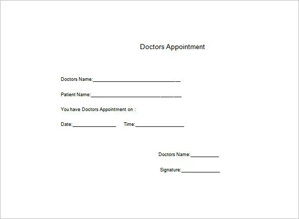 Doctors Note Template u2013 6+ Free Word, Excel, PDF Format Download - doctors note template
