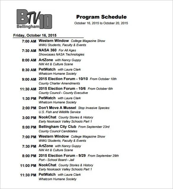 show program template - Yenimescale