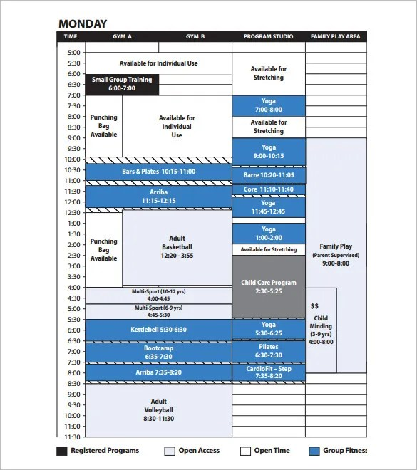 11+ Program Schedule Templates - DOC, PDF Free  Premium Templates