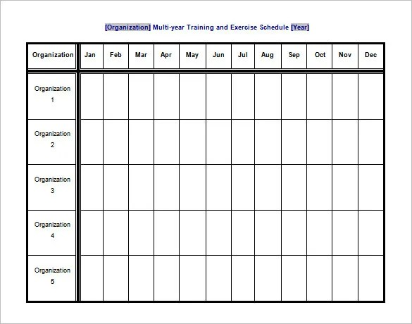 Exercise Chart Template Download Free Workout Chart And Fitness - sample training calendar
