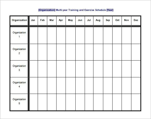 blank exercise calendar - Selol-ink