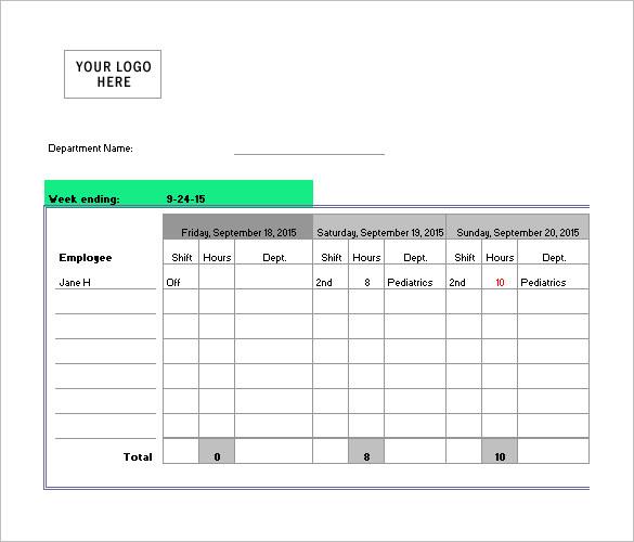 5+ Nursing Schedule Templates - DOC, Excel, PDF Free  Premium - scheduling tools in excel