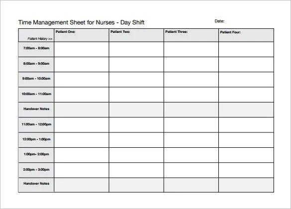 Nursing Schedule Template \u2013 7+ Free Word, Excel, PDF Format Download
