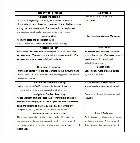 10+ Teacher Schedule Templates - DOC, Excel, PDF Free  Premium